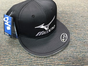 96da7a96993 Mizuno Diamond Flat Brim Fitted Cap- BLACK - Leading Edge Sport
