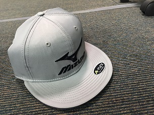 d4575e1544d Mizuno Diamond Flat Brim Fitted Cap- GREY - Leading Edge Sport