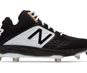 5ae3a9963 New Balance 3000v4 2E Wide Fit MID Metal Cleats   BLACK